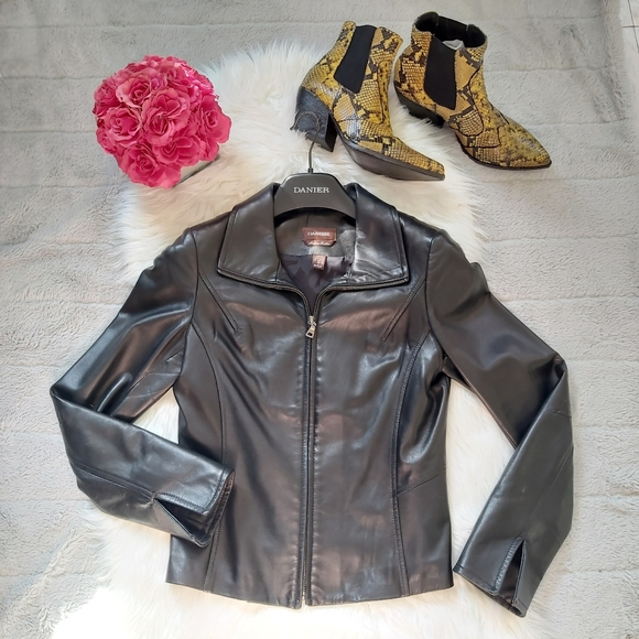 DANIER Leather Jacket Blazer